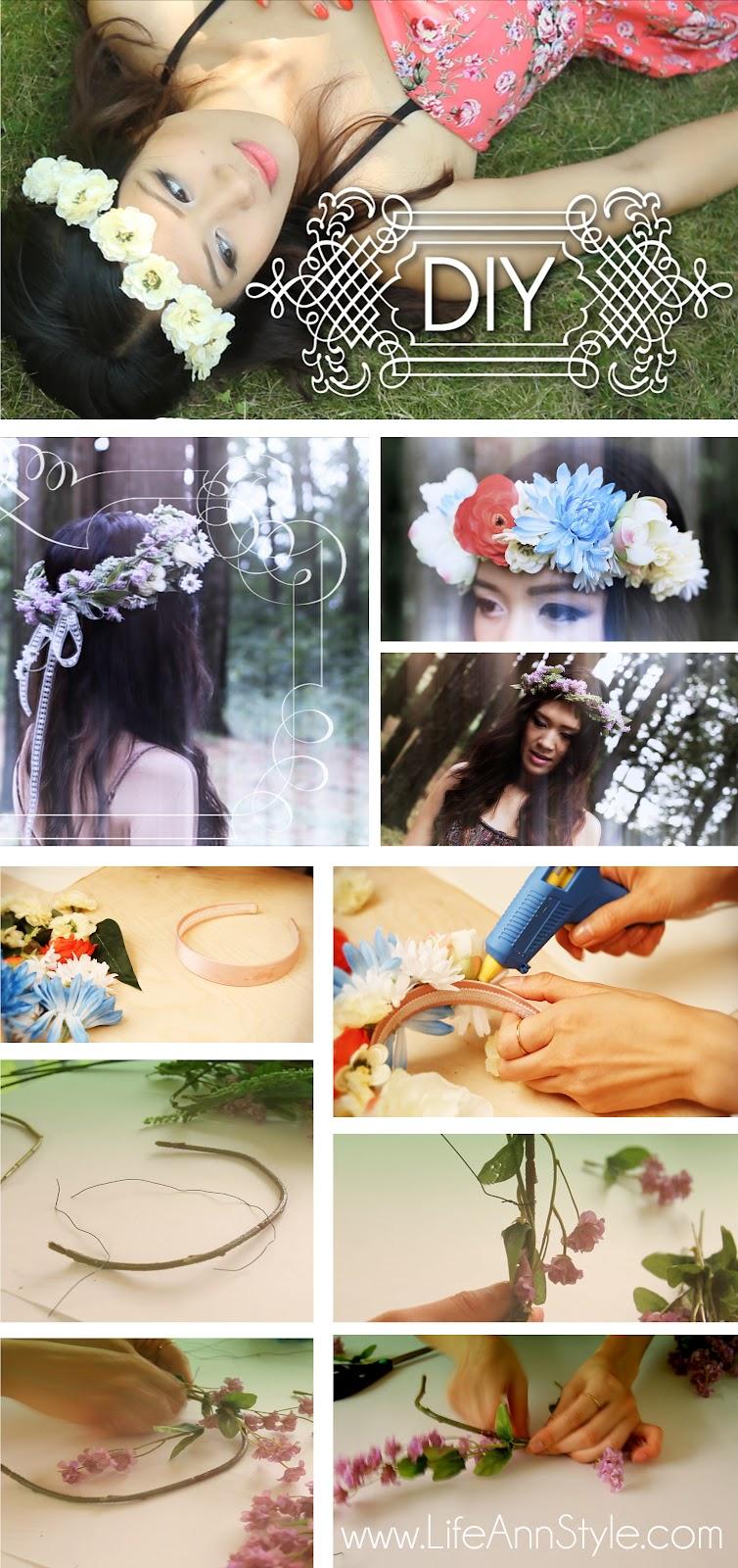 Diy Boho Flower Crown Ann Le Style