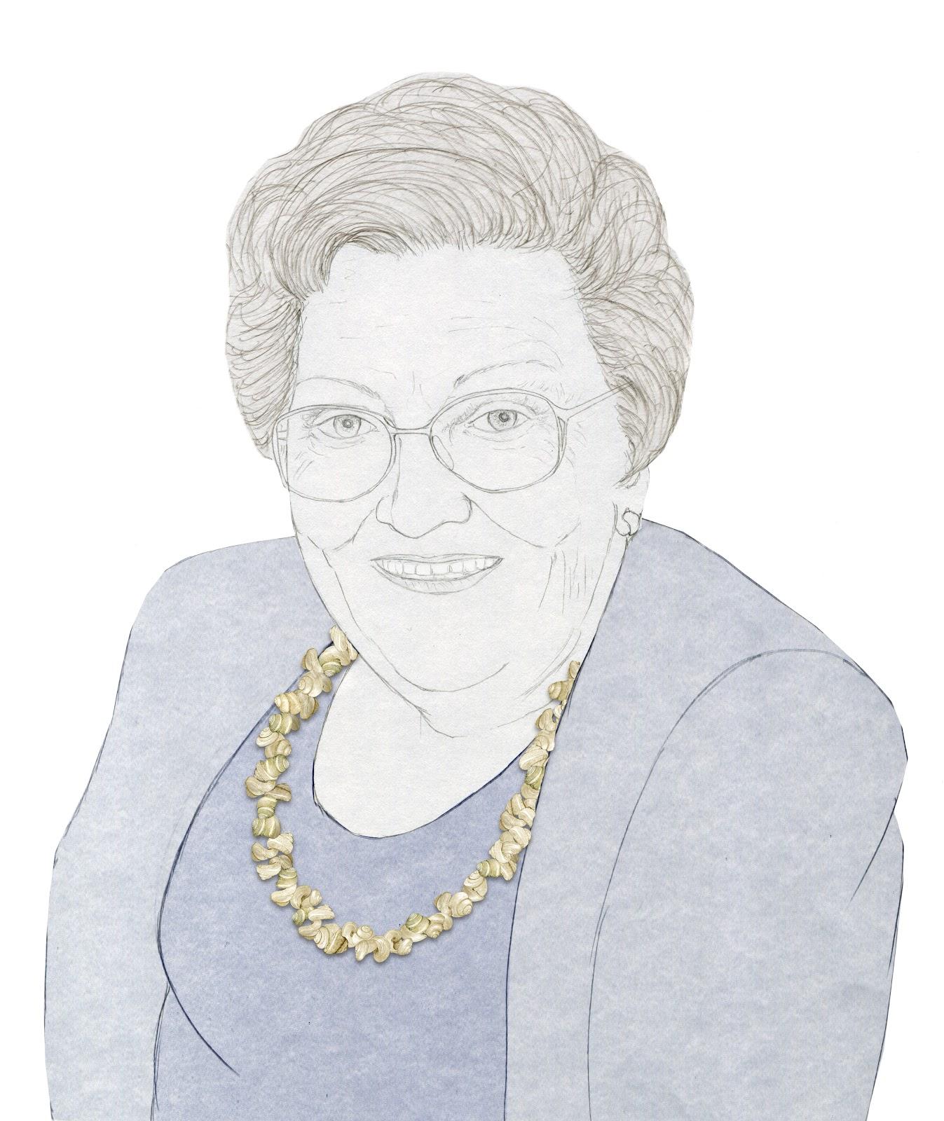 el collar de caracolas, dibujao Dara Reig