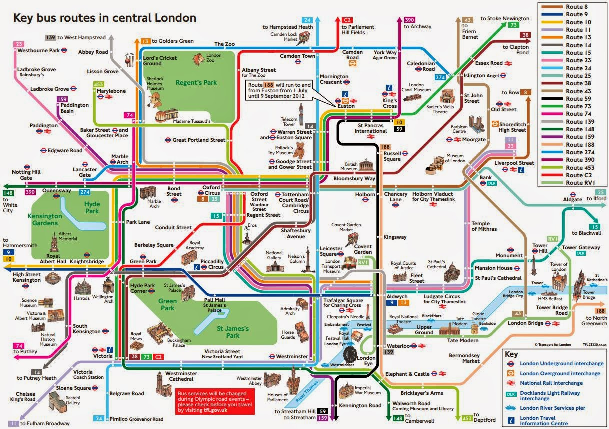 Sightseeing Map Of London – Tourist Attractions Map In London