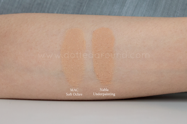 Nabla Underpaiting swatch soft ochre mac