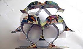 Arte com cartão telefônico feita por Charles Meira