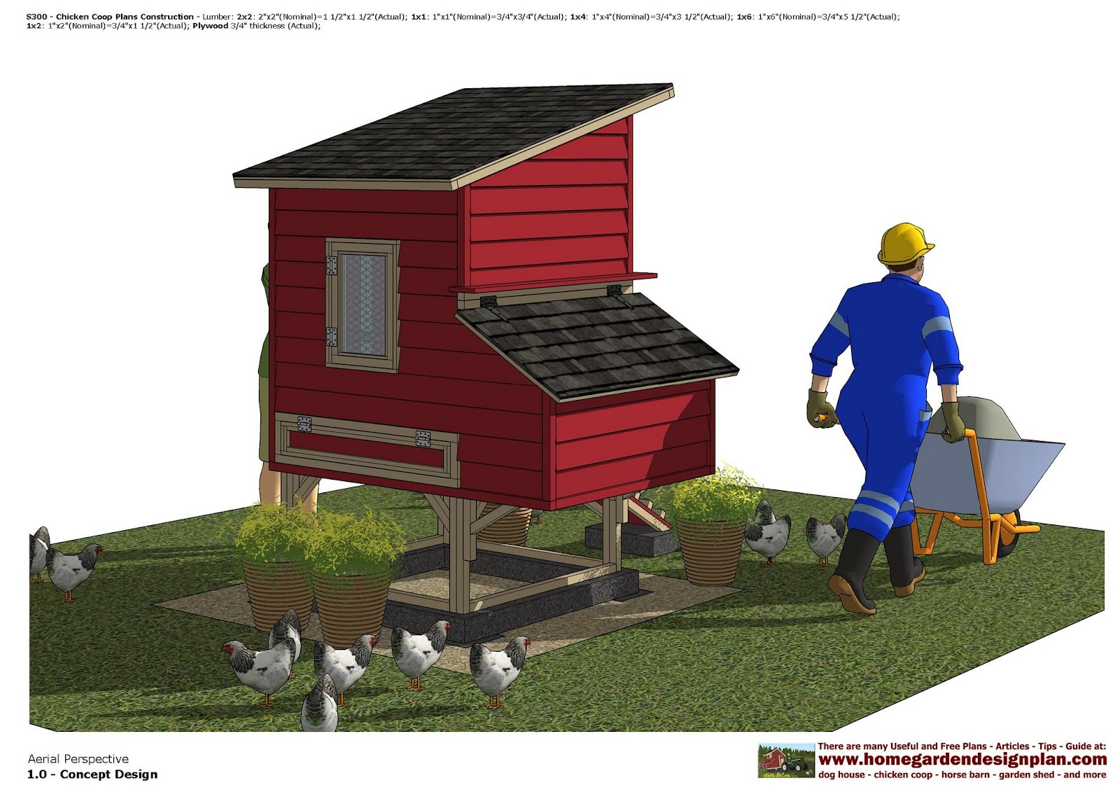 Chicken coop plans with material list chicken house for House plans with material list