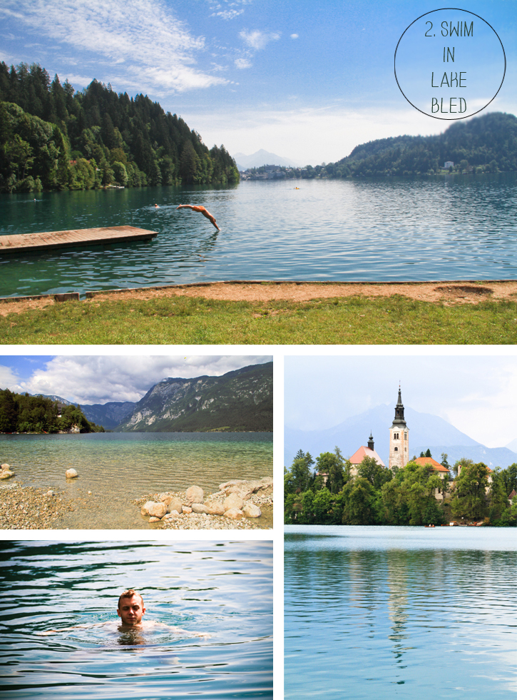 Top things to see in Slovenia, Bled Castle, Bled Island Church, Lake Bohinj, Swimming in Slovenia