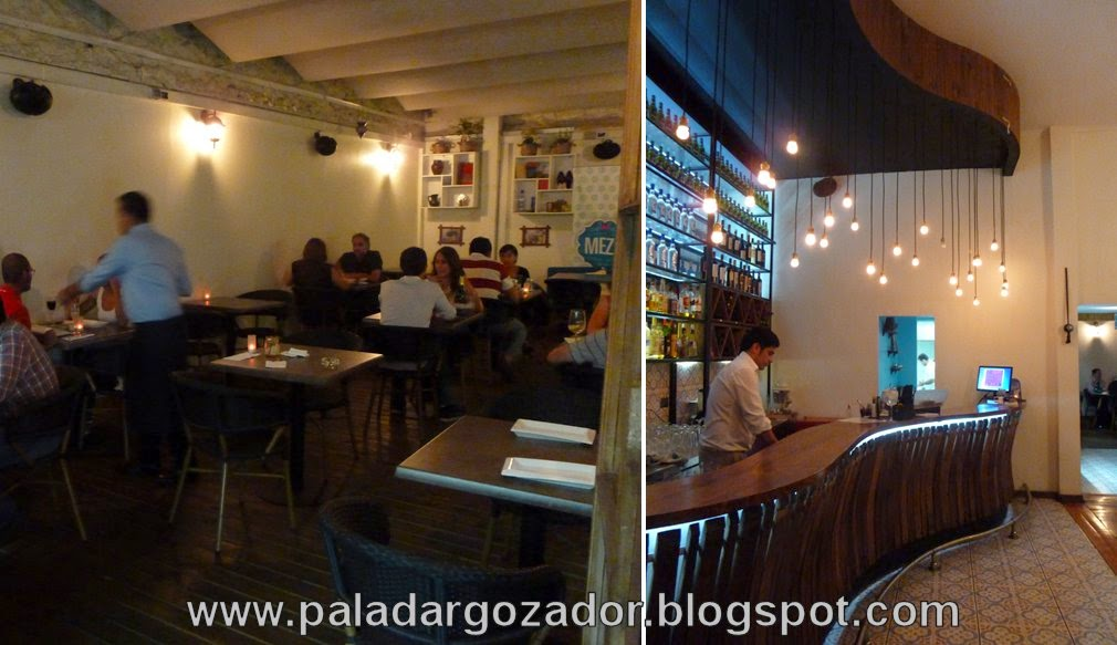 Meze Comida Turca salón terraza bar