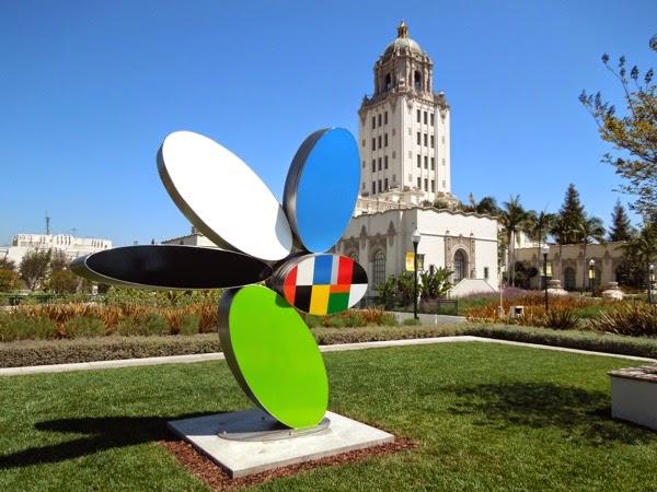 Reckon sculpture Brad Howe Beverly Hills City Hall