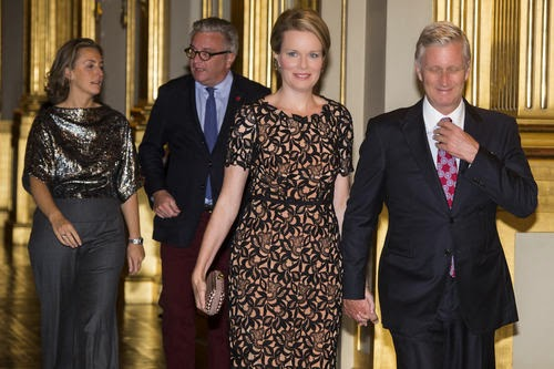 Queen Mathilde and King Philippe of Belgium assist the Autumn Concert at the Royal Palace