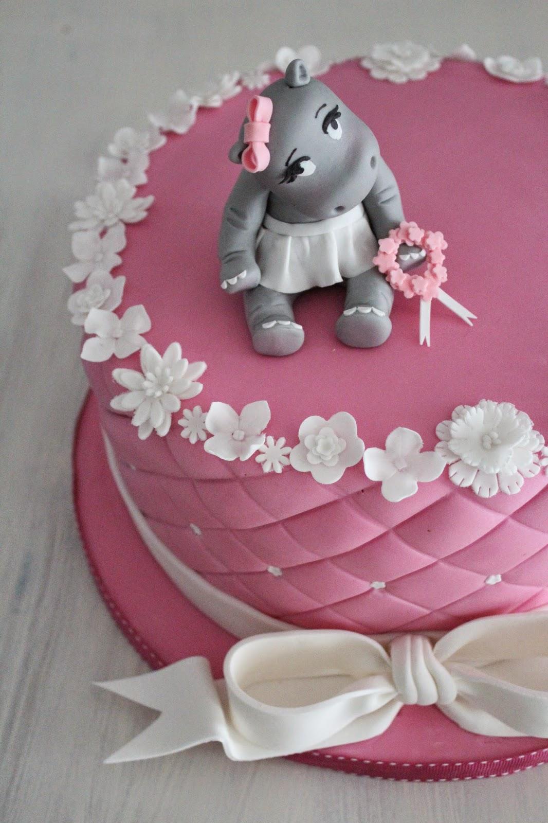 feines handwerk rosa hippo t rtchen f r eine zuckers e. Black Bedroom Furniture Sets. Home Design Ideas