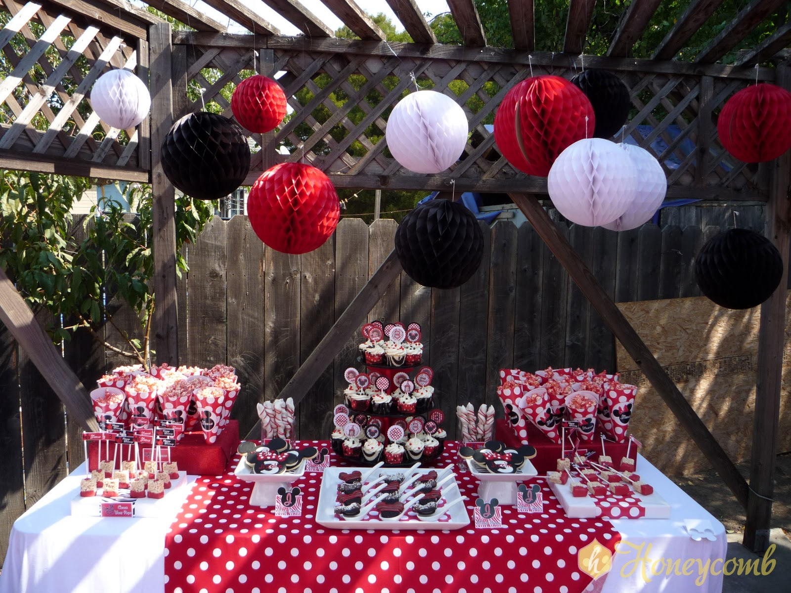 Honeycomb events design first year in review for 2nd birthday decoration