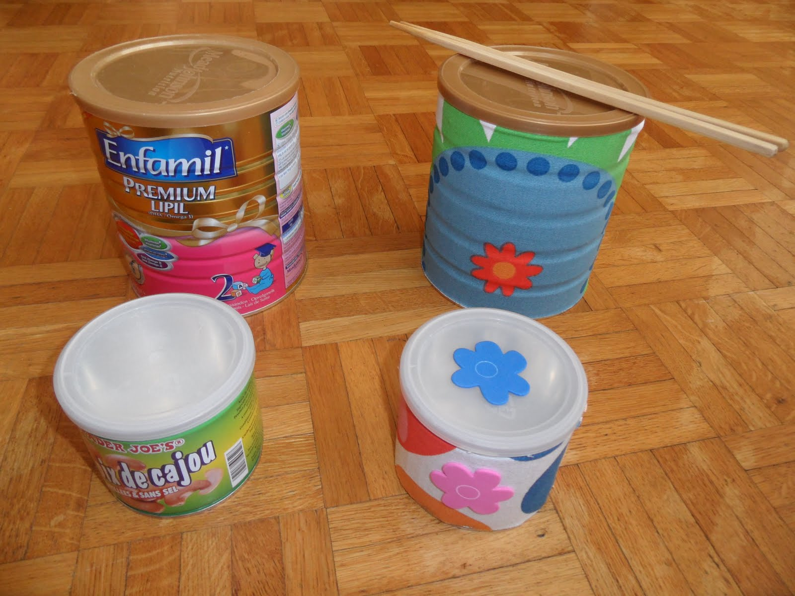 Reutilizar y Crear: Botes metalicos con tapa (botes de leche, de ...