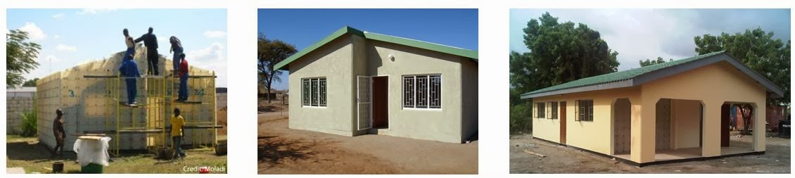 Home building construction technology moladi plastic for Low cost home construction