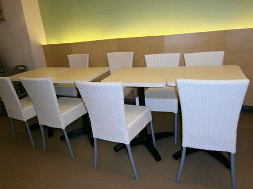 Dimsum Break white chairs and tables
