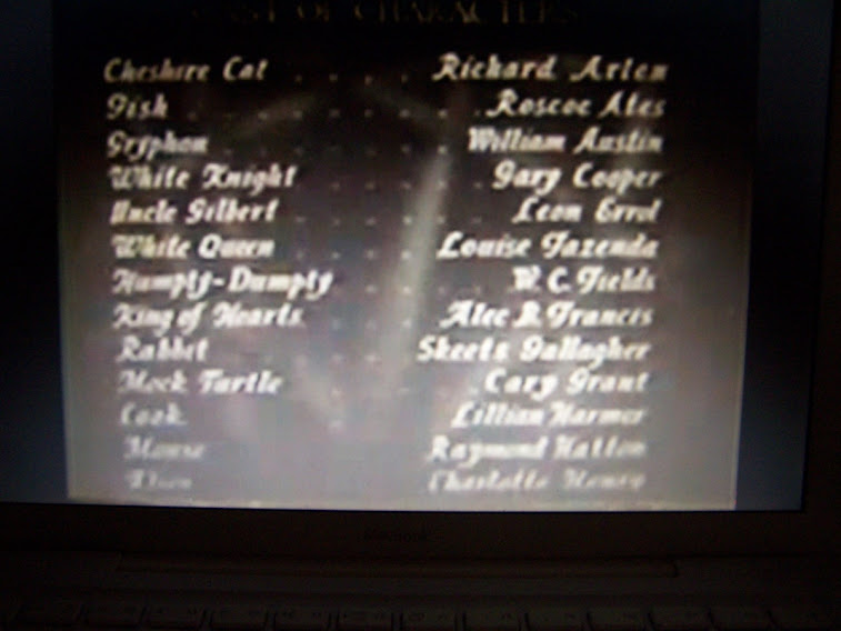 1933 Alice in Wonderland Cast Credits #3