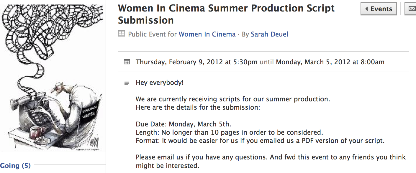 Women In Cinema Blog Script Reading And Workshop