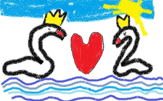 Любовь - одно сердце на двоих.
