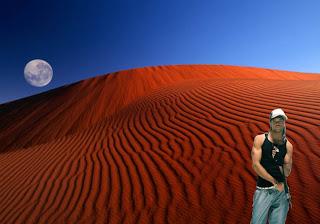 Homenagem a Angélico Vieira dos Morangos com Açucar em Posters Wallpapers com fundo de tela Deserto Lua Vermelha