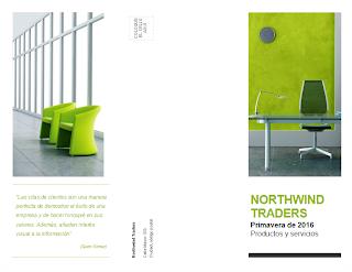folleto tríptico de negocio verde