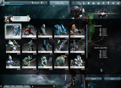 Warframe - Switching Warframes