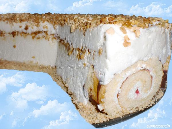 capas tarta helada celestial