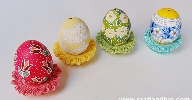Riciclo creativo craft and fun decorazioni di pasqua uncinetto e riciclo creativo - Fai da te pasqua decorazioni ...