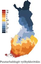 Suomalaisia puutarhablogeja kasvuvyöhykkeen mukaan: