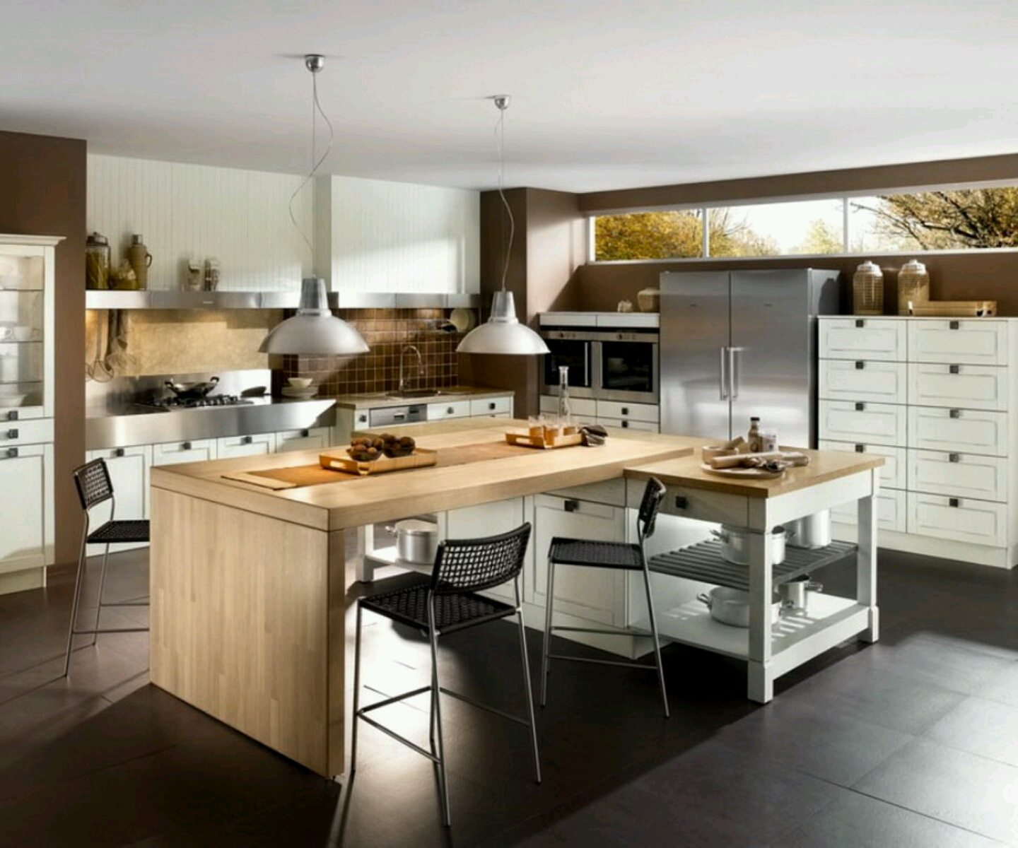 Modern Small Kitchen Design: New Home Designs Latest.: Modern Kitchen Designs Ideas