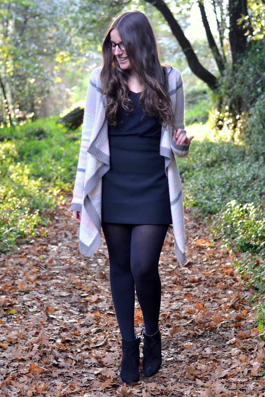 cardigan pimkie, zara skirt, forest