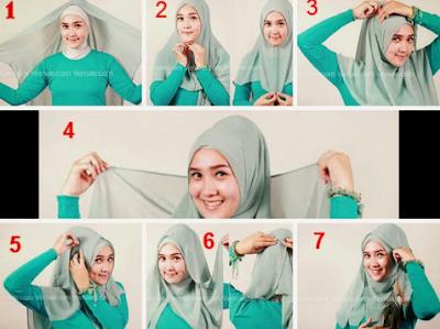 Cara Memakai Hijab Segi Empat
