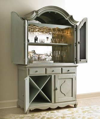 very merry vintage syle a bar in an armoire. Black Bedroom Furniture Sets. Home Design Ideas