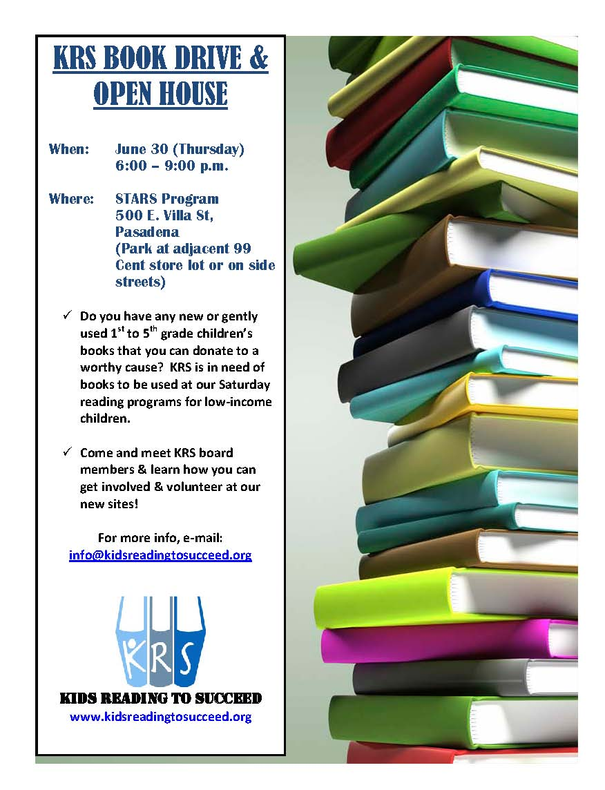 kids reading to succeed join krs at our 1st book drive open house