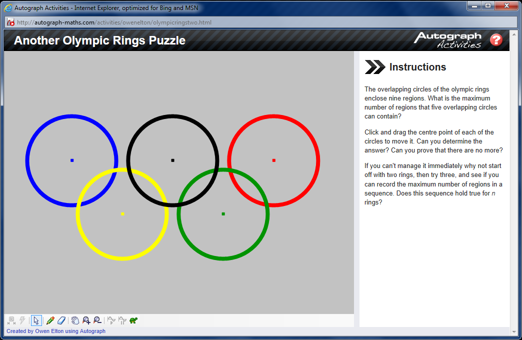 Another Olympic Rings Puzzle Matheminutes