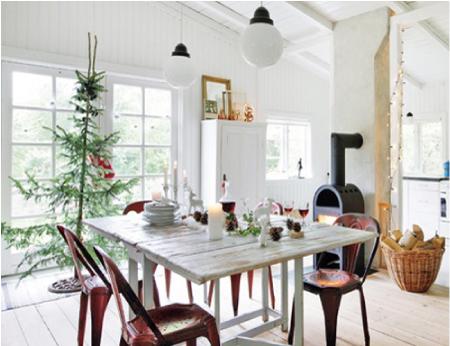 Una casa svedese a natale blog di arredamento e interni for Arredamento natalizio casa