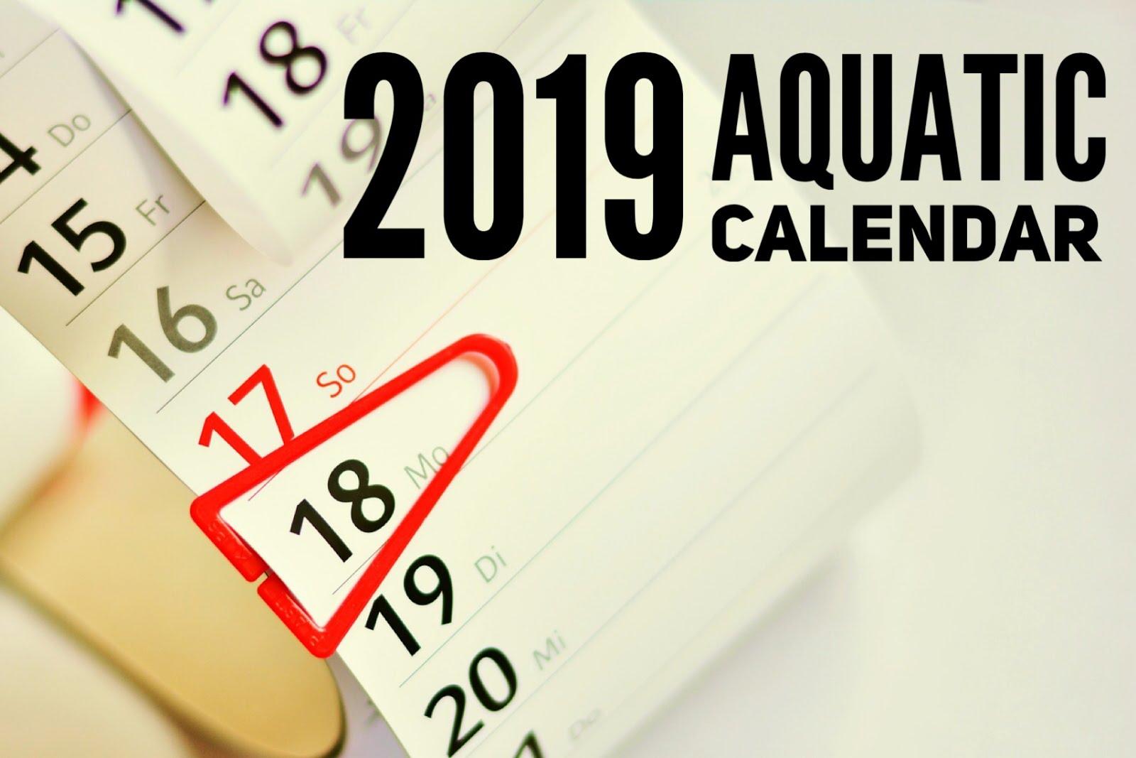 2019 Aquatic Calendar