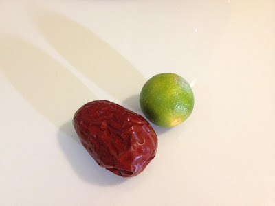 comparing a lime to a dried red date