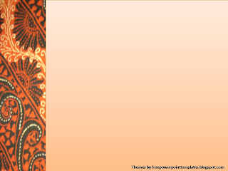 Free PowerPoint Templates: Batik Powerpoint Background