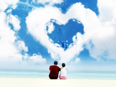 valentines day lovers on beach wallpapers