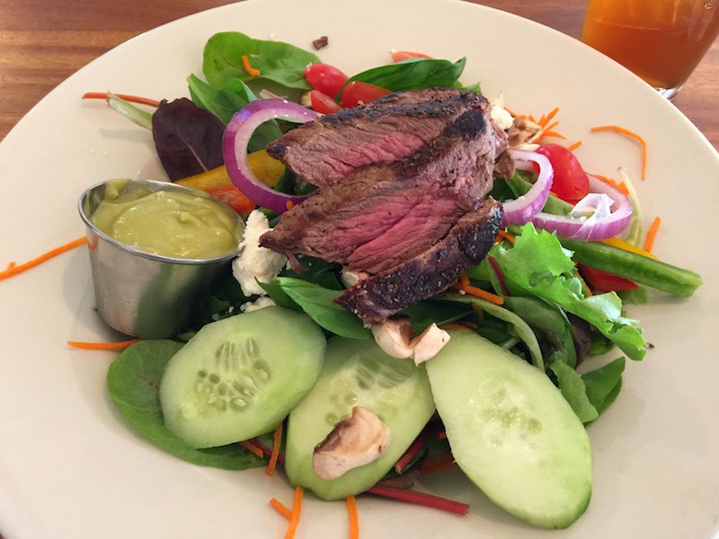 Steak salad with avocado dressing at B Line in Tucson