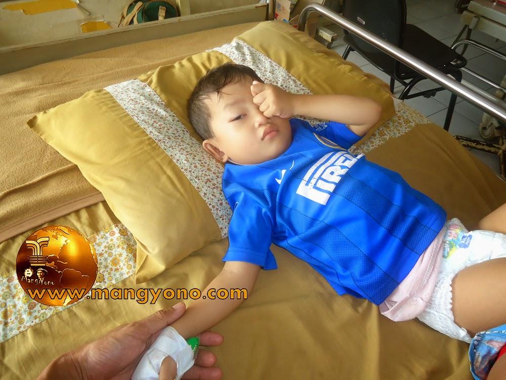 Gigin setelah siuman dari step di RS PTPN VIII Subang.