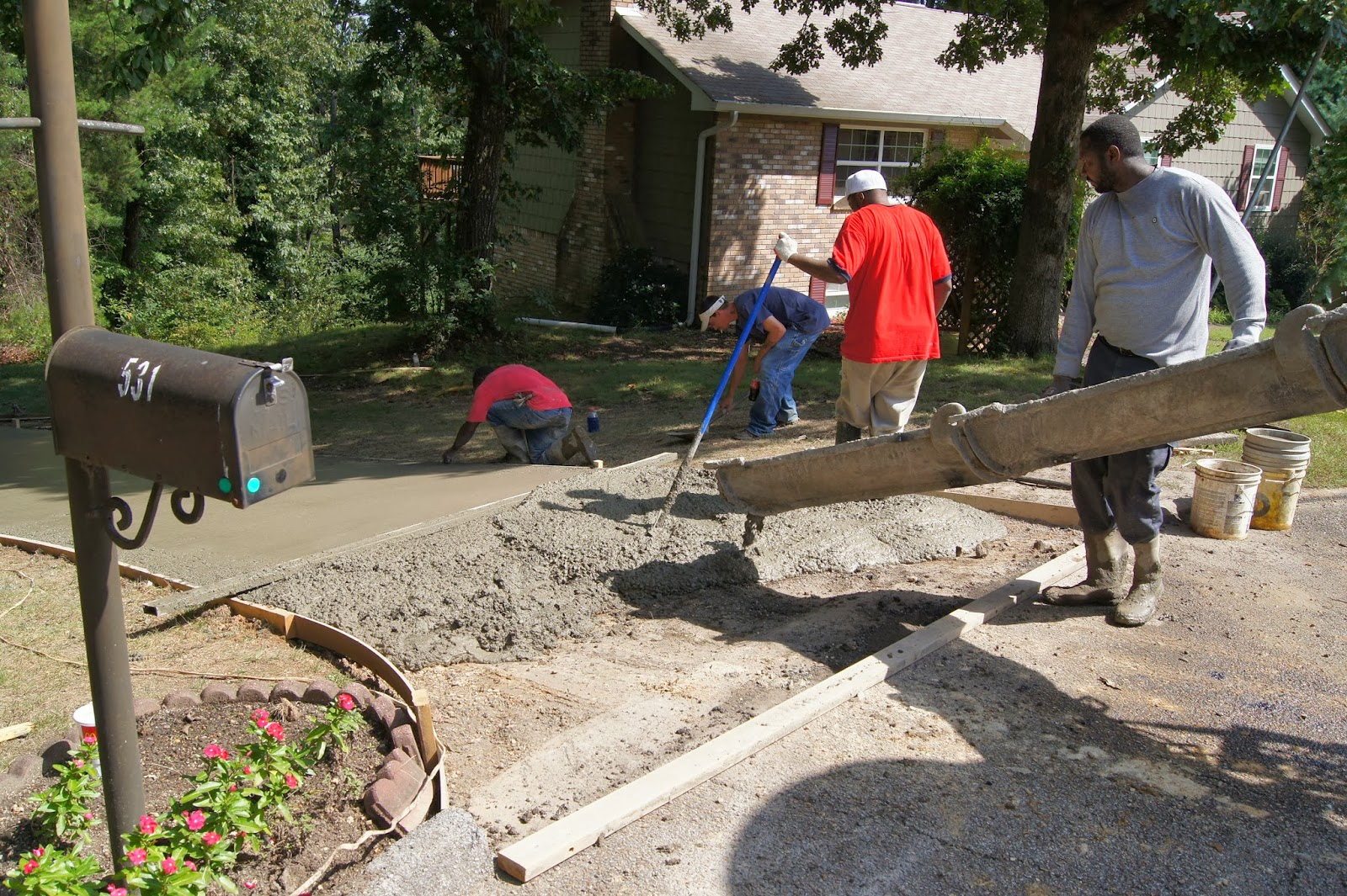 Just thinking by robert j tamasy joy of a job well done for Pouring your own concrete driveway