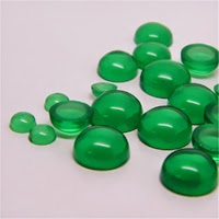 green CZ Stones round cabochon