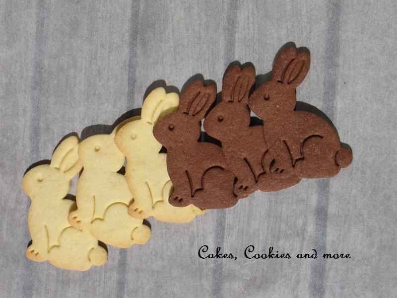 Gestempelte Schokoladen und Vanille Cookies