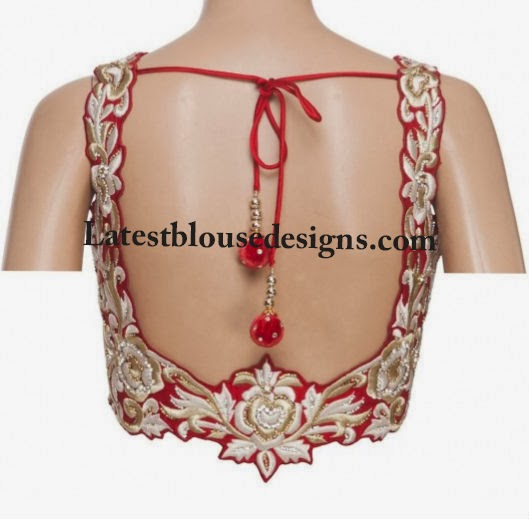 thread embroidery blouse