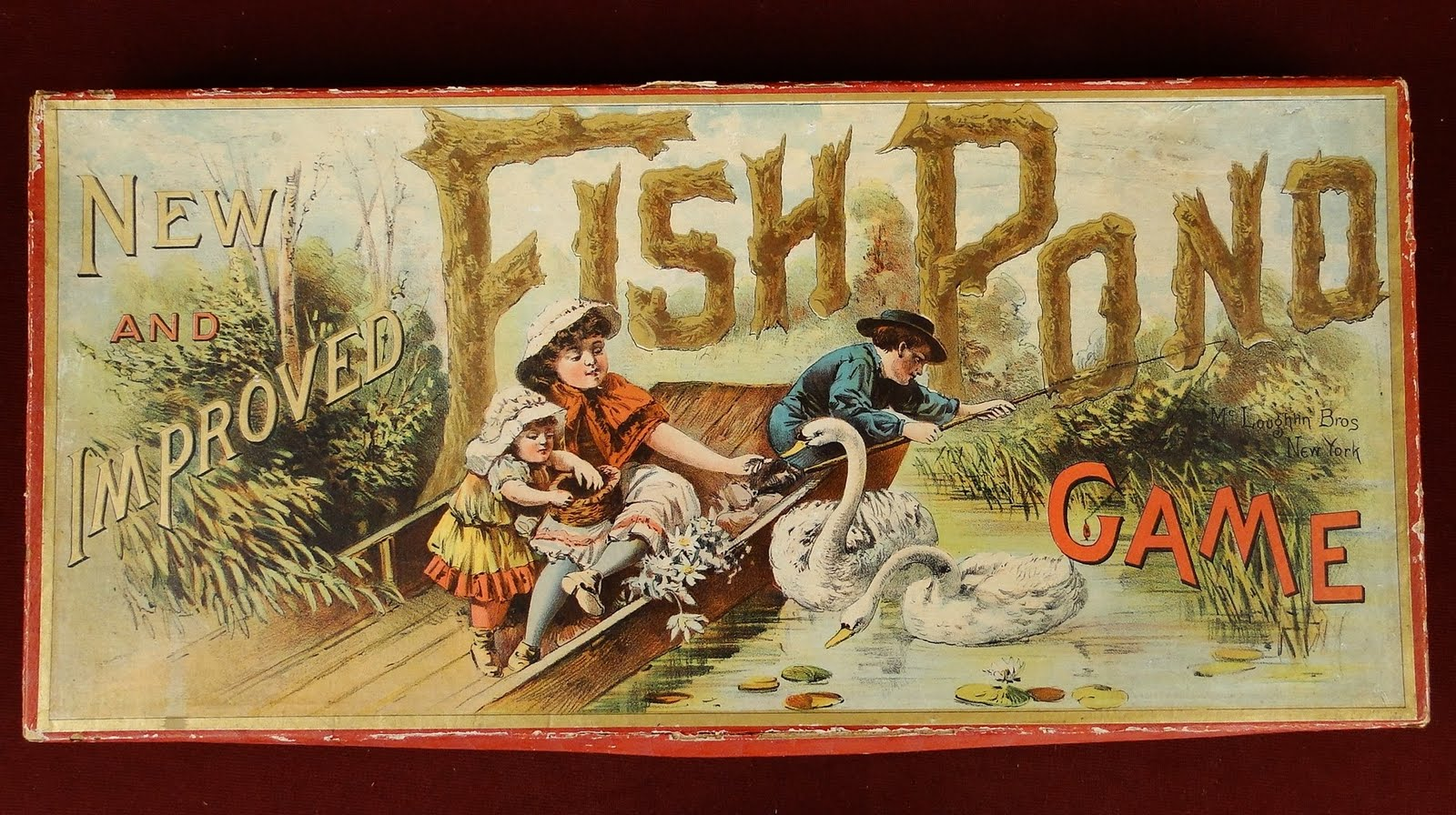 Views from north cecil 1890 mcloughlin fish pond board for Fish pond game