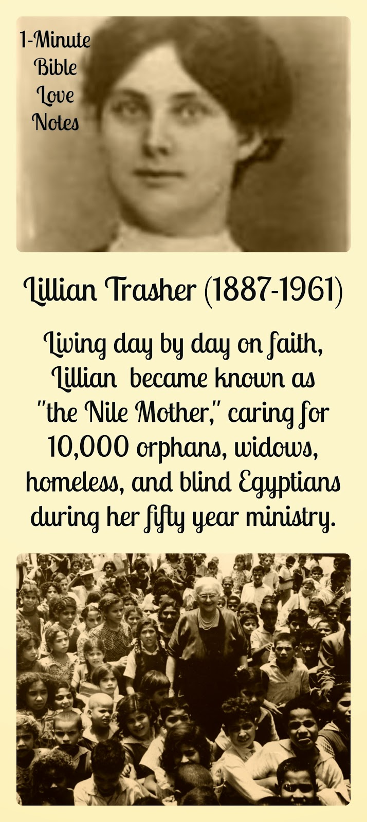 lillian trasher Today, the lillian trasher orphanage is a 12-acre campus it houses 650 children (and widows) and is led by a couple who grew up in the orphanage it houses 650 children (and widows) and is led by a couple who grew up in the orphanage.