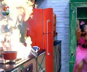 Panela explode e assusta peões em A Fazenda