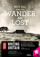 Writing Britain: Wastelands to Wonderlands British Library Exhibition Poster
