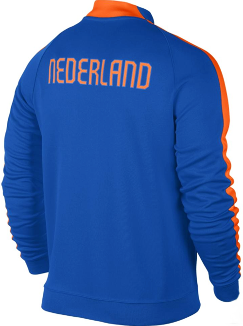 NIKE NETHERLANDS AUTHENTIC N98 JACKET FIFA WORLD CUP BRAZIL 2014 HOLLAND BLUE.