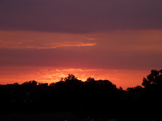 dawn sky over Laurel, June 1