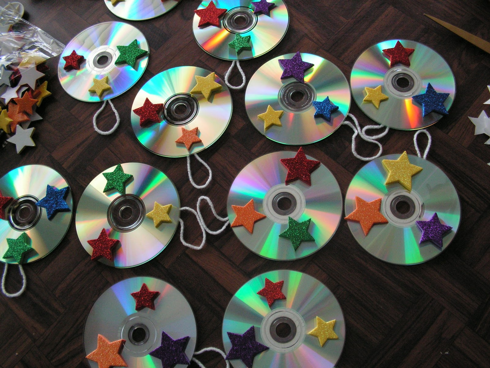 My little one room schoolhouse crafting lesson cd suncatchers - Top uses for old cds and dvds unbounded ideas ...