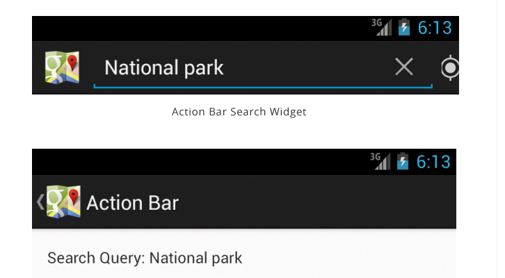 Adding Search Widget to action bar