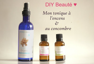 lotion tonique encens concombre maison